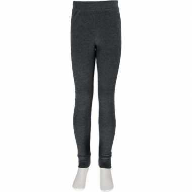 2x thermo broek ondergoed voor kinderen grijs
