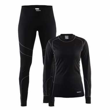 Craft buiten werkkleding thermopak zwart voor dames