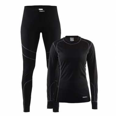 Craft ski thermopak zwart voor dames