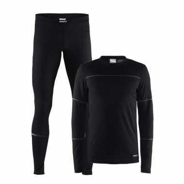 Craft sportkleding thermopak zwart voor heren