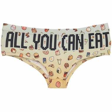 Fun ondergoed eetwaren print voor dames