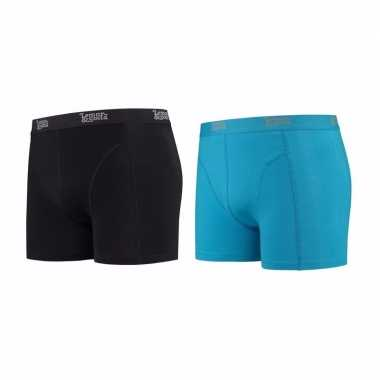 Lemon and soda boxershorts 2 pak zwart en blauw m