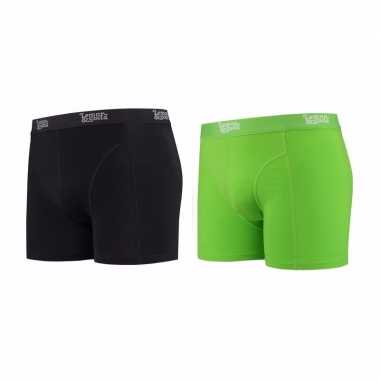 Lemon and soda boxershorts 2 pak zwart en groen s