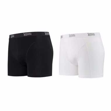 Lemon and soda boxershorts 2 pak zwart en wit l