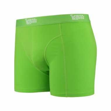 Limegroene boxershort voor heren