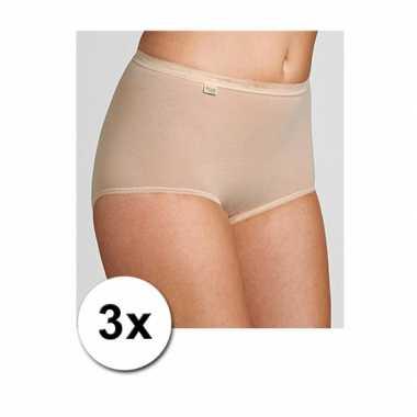 Pakket met 3x sloggi ondergoed ondergoed voor dames