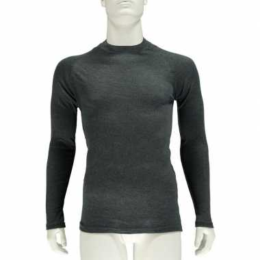 Thermo shirt antraciet lange mouw voor heren