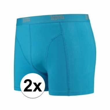 Voordelige blauwe boxershorts 2 pak voor heren