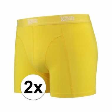 Voordelige gele boxershorts 2 pak voor heren
