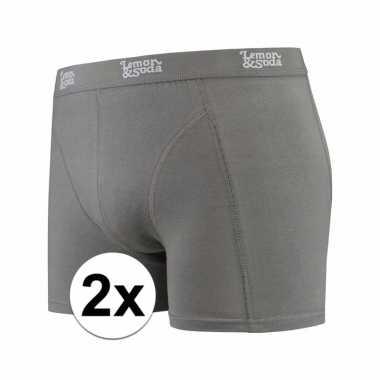 Voordelige grijze boxershorts 2 pak voor heren