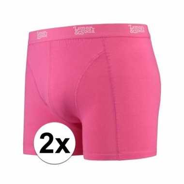 Voordelige roze boxershorts 2 pak voor heren