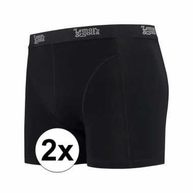 Voordelige zwarte boxershorts 2 pak voor heren