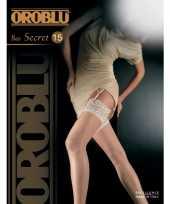 Oroblu kousen met kant 15 den champagne